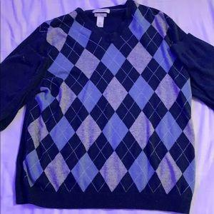 Argyle brandy sweater